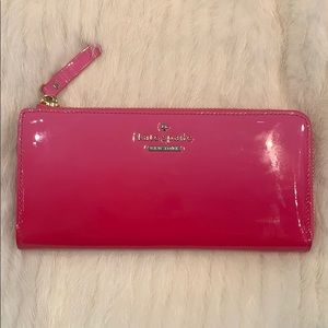 Kate Spade Pink Ombré Patent Leather Wallet